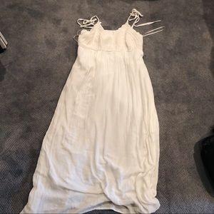 Forever 21 Plus Size White Crochet Maxi Dress